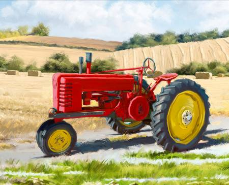 1822 Red Tractor Panel 36in