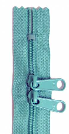 24in Aqua Zipper Double Slide
