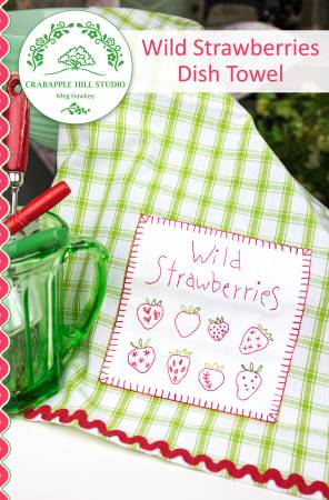 Wild Strawberries Dish Towel