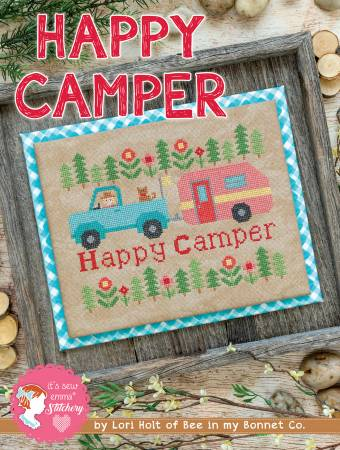 Happy Camper Cross Stitch Pattern