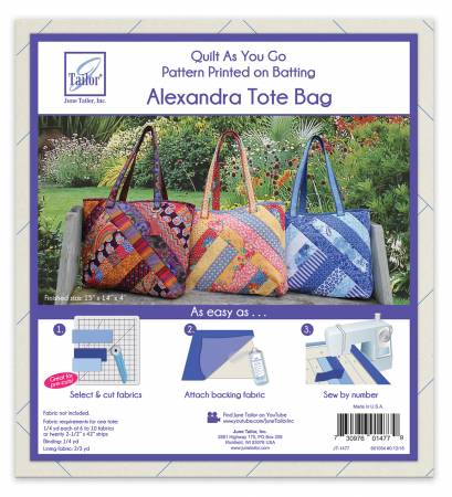 Quilt As You Go Tote Bag Alexandra Design