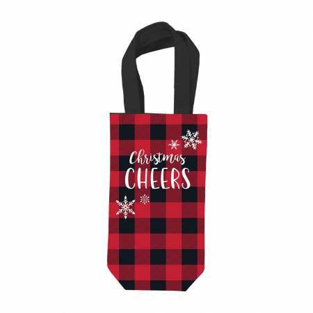 Christmas Cheers Wine Bag