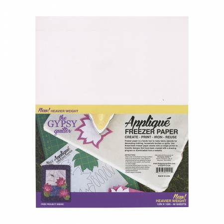 Gypsy Quilter Freezer Paper 12in x 15in Heavy Weight 40ct