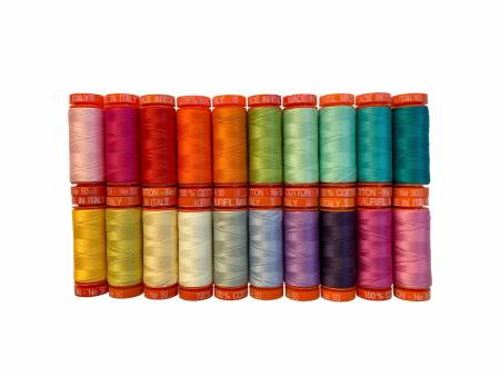 Tula Pink Curiouser and Curiouser Thread Collection 50wt 20 Small Spools