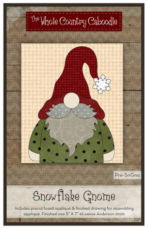 Snowflake Gnome Precut Fused Applique Pack