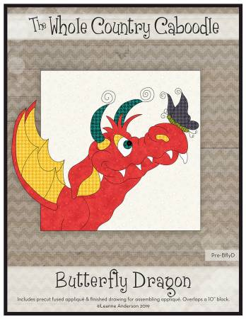 Butterfly Dragon Precut Fused Applique Pack