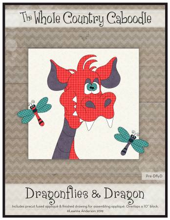 Dragonflies & Dragon Precut Fused Applique Pack