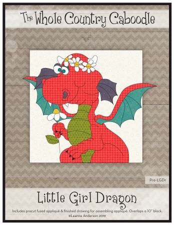 Little Girl Dragon Precut Fused Applique Pack