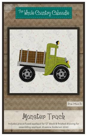 Monster Truck Precut Fused Applique Pack
