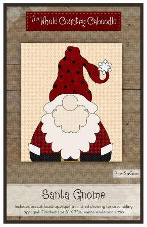 Santa Gnome Precut Fused Applique Pack