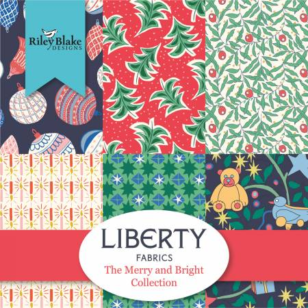 Liberty Merry And Bright 10in Squares, 42pcs/bundle