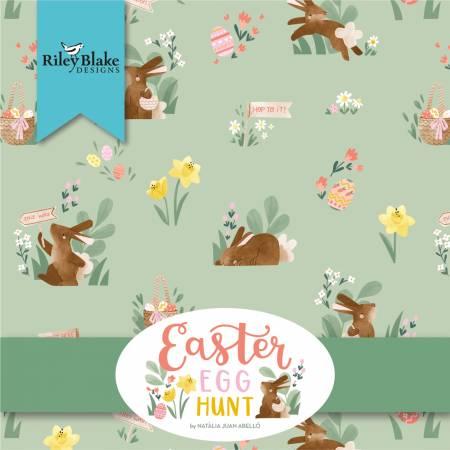 Easter Egg Hunt 10in Squares, 42pcs, 3 bundles/pack