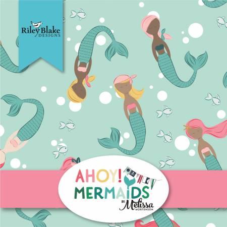 Ahoy Mermaids 10in Squares, 42pcs, 3 bundles/pack