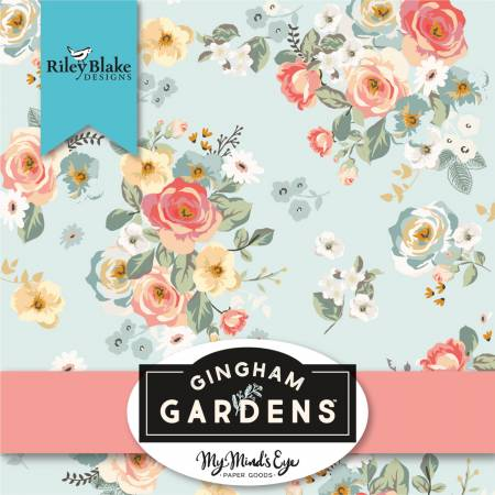 Gingham Gardens 10in Squares, 42pcs, 3 bundles/pack