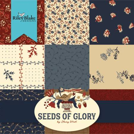 Seeds Of Glory 10in Squares, 42pcs, 3 bundles/pack