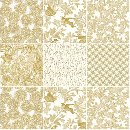 Castkata Classic 10in Square Gold, 42pcs, 3 bundles/pack