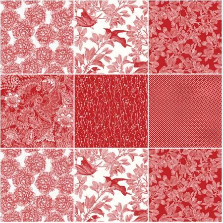 Castkata Classic 10in Square Red, 42pcs, 3 bundles/pack