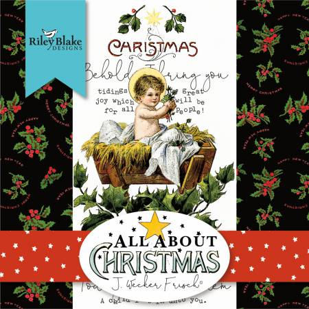 All About Christmas 10in Squares, 42pcs/bundle