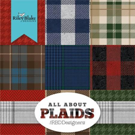 Plaids 10in Squares, 42pcs, 3 bundles/pack