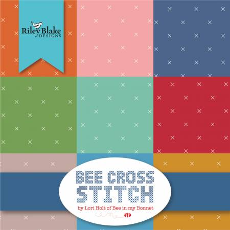 Bee Cross Stitch 10in Squares, 42pcs, 3 bundles/pack