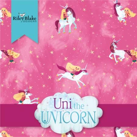 10in Squares Uni the Unicorn, 42pcs, 3 bundles/pack