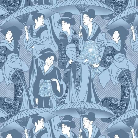 Blue Japanese Geishas