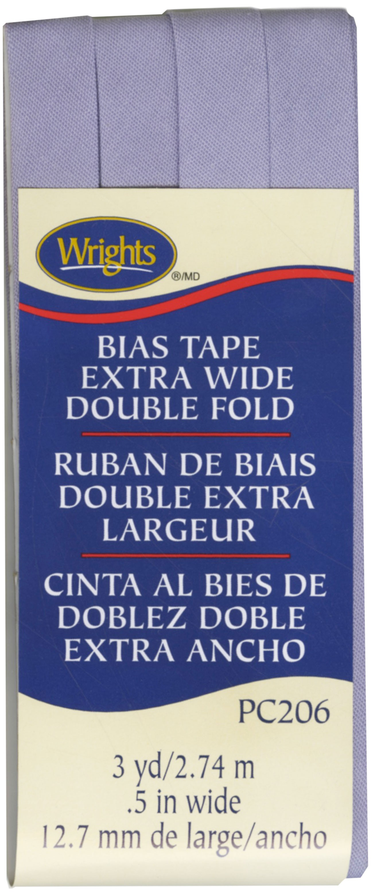 10 yds BLUE Gingham 12 EXTRA Wide Double Fold Bias Tape 100/% American Made
