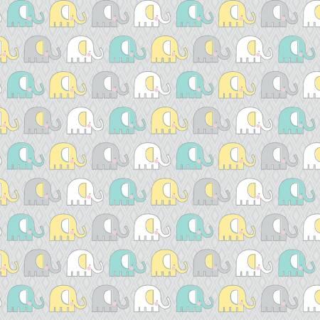 Teal/Grey Adorable Elephant