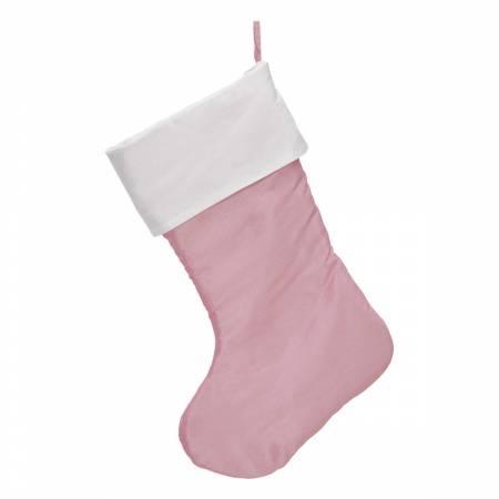 Traditional Christmas Stocking Soft Pink