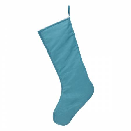 Chic Christmas Stocking Teal Blue