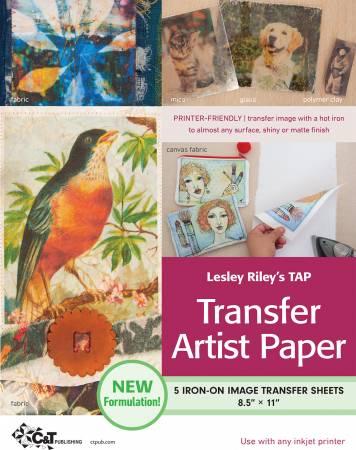 Lesley Rileys TAP Transfer Artist Paper 5pk