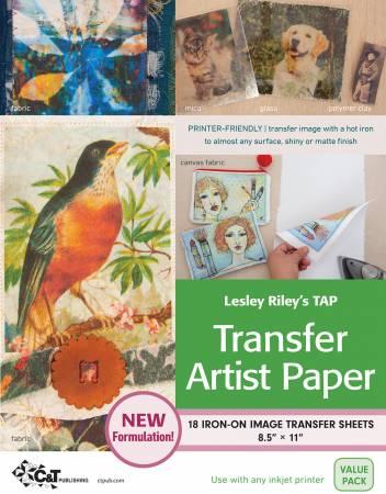 Lesley Riley's TAP Transfer Artist Paper 18pk