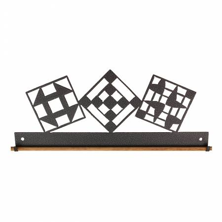 12in Quilt Block Fabric Holder Charcoal