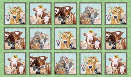 Green Happy Farm Block Panel