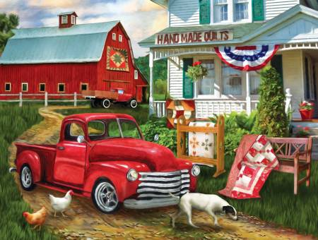 Stopping at the Farm Puzzle 500pc