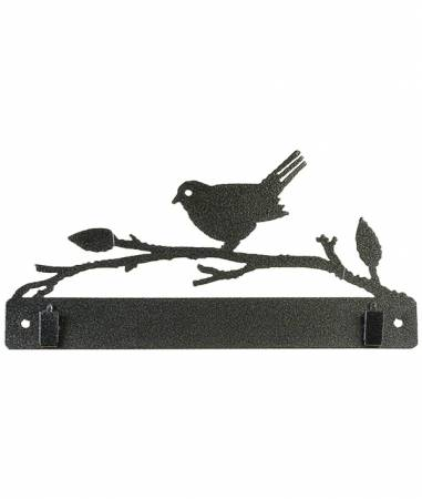 10in Bird On Branch With Clips
