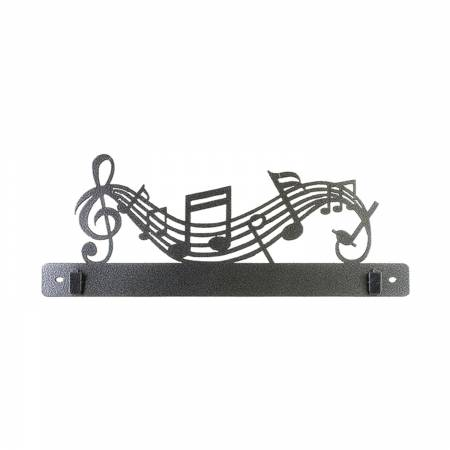 14in Music Split Bottom With Clips Charcoal