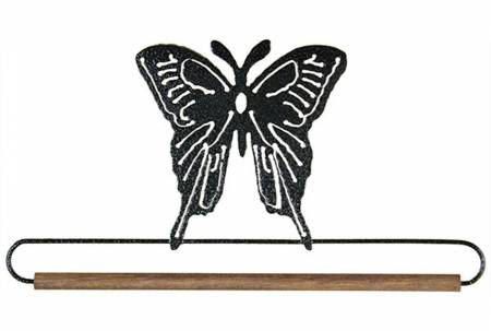 7-1/2in Butterfly With Dowel Charcoal