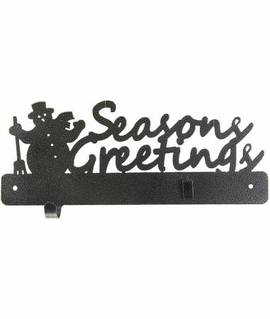 12in Seasons Greetings Hook and Clip Holder Charcoal
