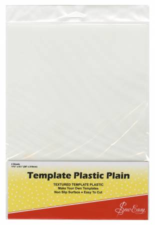 Template Plastic Plain Two 8-1/2in x 11in Sheets per Package