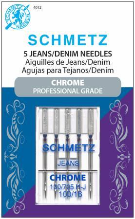 Chrome Denim Schmetz Needle 5 ct, Size 100/16