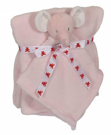 Elephant Blankey Buddy Set Pink