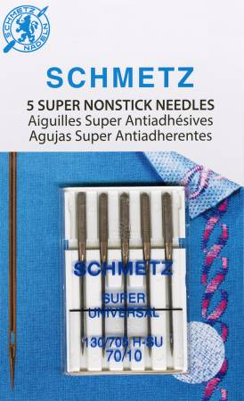 Schmetz Super Nonstick Needle 5ct, Size 70/10