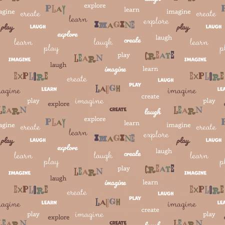 Grey Play Words Flannel