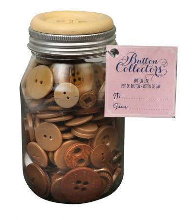 Mason Jar 8 oz of  Mixed Sizes Brown Ombre 4 hole
