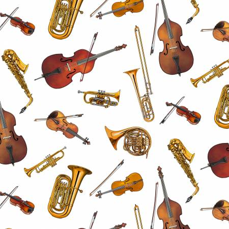 White Musical Instruments