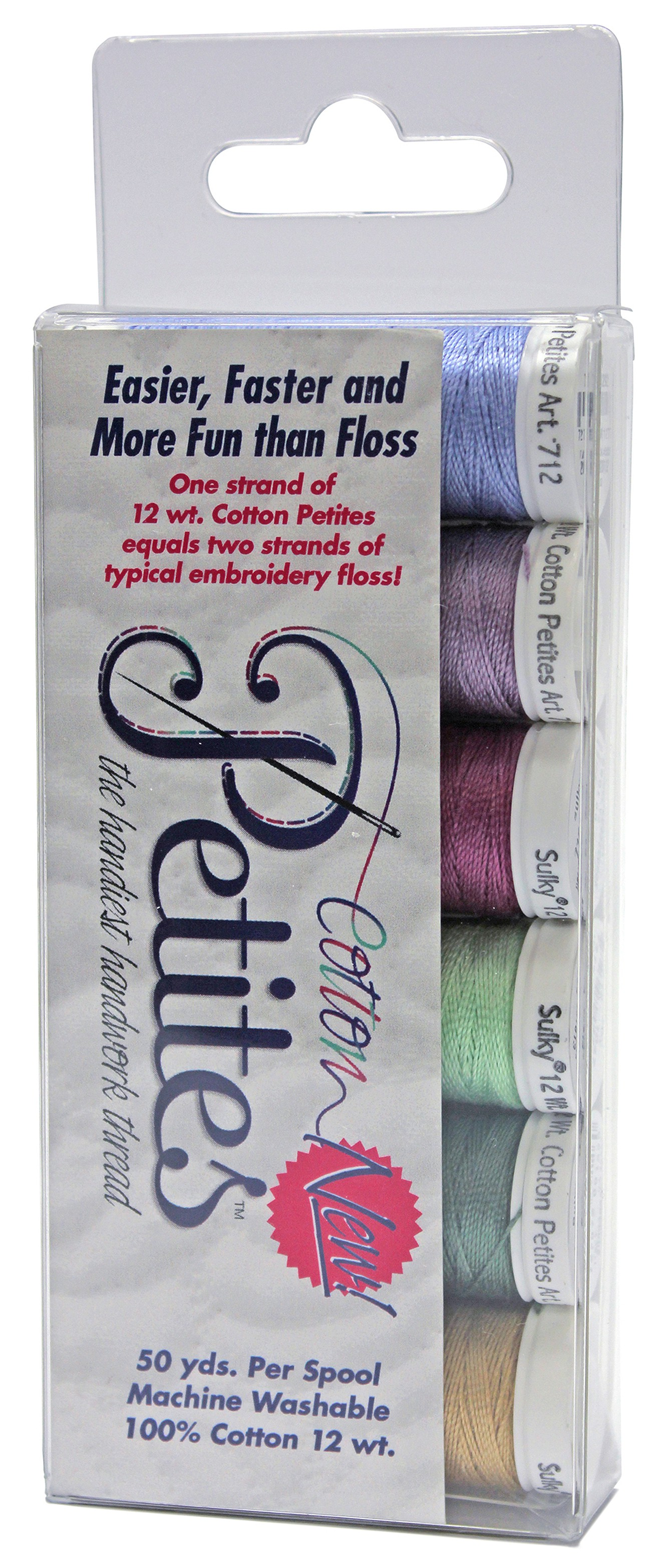 12 wt thread 6 colors Neutrals Cotton Petites Sulky thread the handiest handwork thread