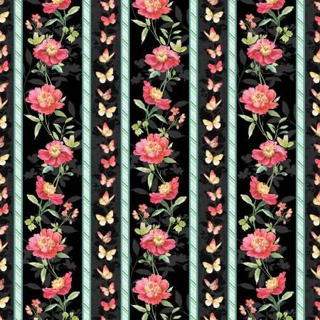 Multi Pink Garden Repeating Stripe