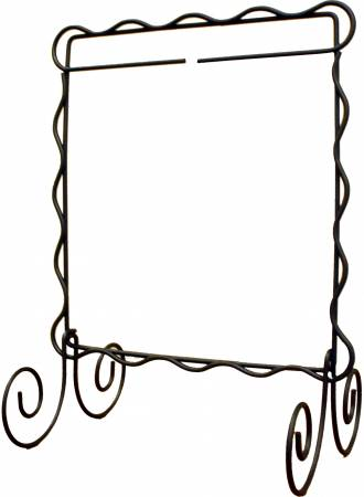 6in x 6in Scalloped Single Stand Charcoal