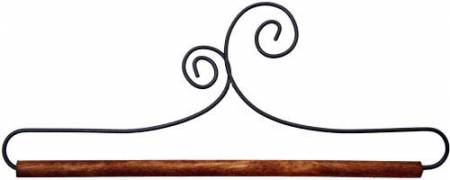 12in Double Scroll Holder With Dowel
